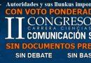 CONGRESO DE LA CARRERA DE COMUNICACIÓN SOCIAL-UMSA 2016