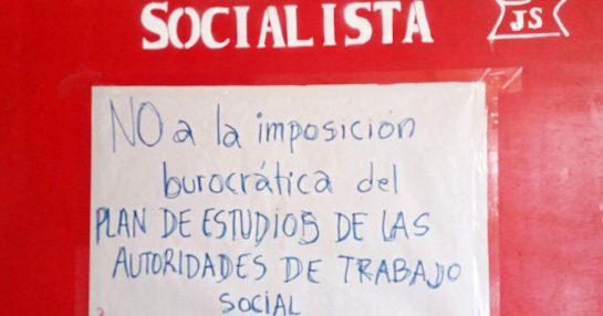 TRABAJO SOCIAL: NO A LA IMPOSICIÓN DEL PLAN DE ESTUDIOS DE LAS AUTORIDADES