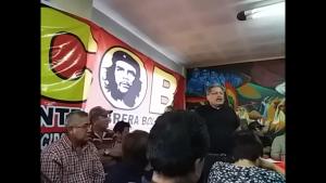Jaime Vilela, dirigente del MST, explica la necesidad de una alternativa de los trabajadores ante los ataques del MAS y la Oposición Derechista.