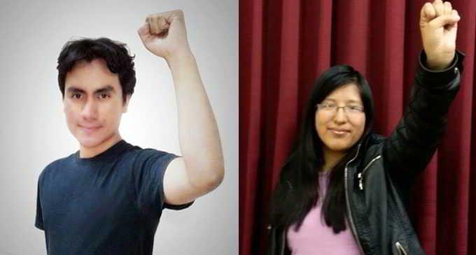 Juan José Villa de Comunicación social y Paola Cauna de Trabajo Social se presentaron con programa revolucionario y fueron respaldados por el estudiantado de sus respectivas carreras en elecciones y asambleas.