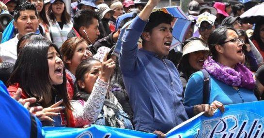 POR LA LUCHA UNITARIA DE LAS BASES ESTUDIANTILES, POPULARES Y OBRERAS