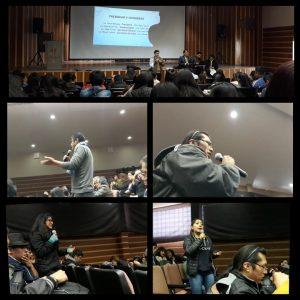 Las intervenciones críticas y propositivas de la JS llevaron el compás de la Asamblea Docente Estudiantil.