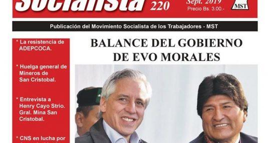 CHASQUI SOCIALISTA Nº 220, ÓRGANO OFICIAL DEL MST