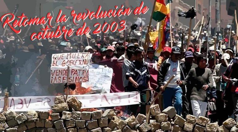 A 13 AÑOS DE LA REVOLUCIÓN DE OCTUBRE2003