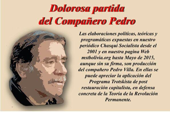 A 73 AÑOS DEL NACIMIENTO DE NUESTRO COMPAÑERO, DIRIGENTE, MAESTRO Y AMIGO, JUAN VILLA ARROYO (PEDRO)