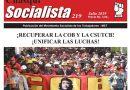 CHASQUI SOCIALISTA Nº 219, ÓRGANO OFICIAL DEL MST