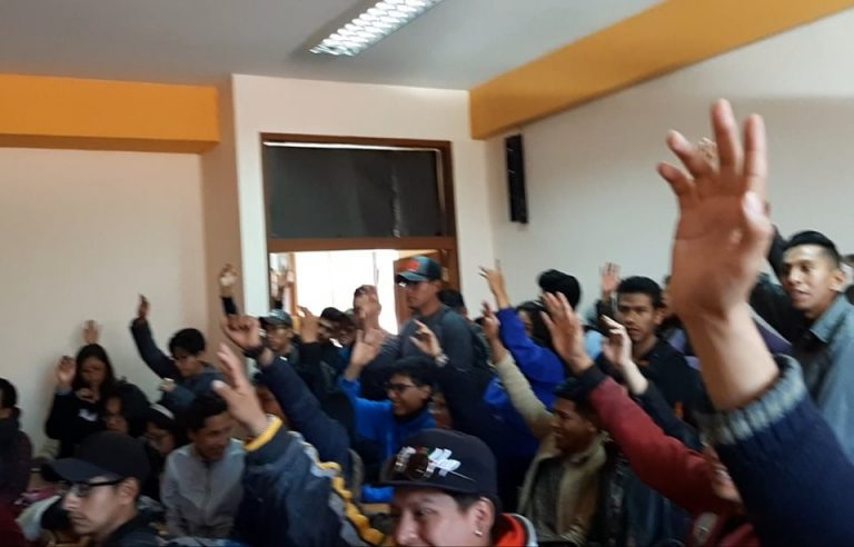 ASAMBLEA DE COMUNICACIÓN RECHAZA LA INJERENCIA DE LA FUL CORRUPTA Y SUSPENDE LAS ELECCIONES AL CECOM POR VICIOS DE NULIDAD