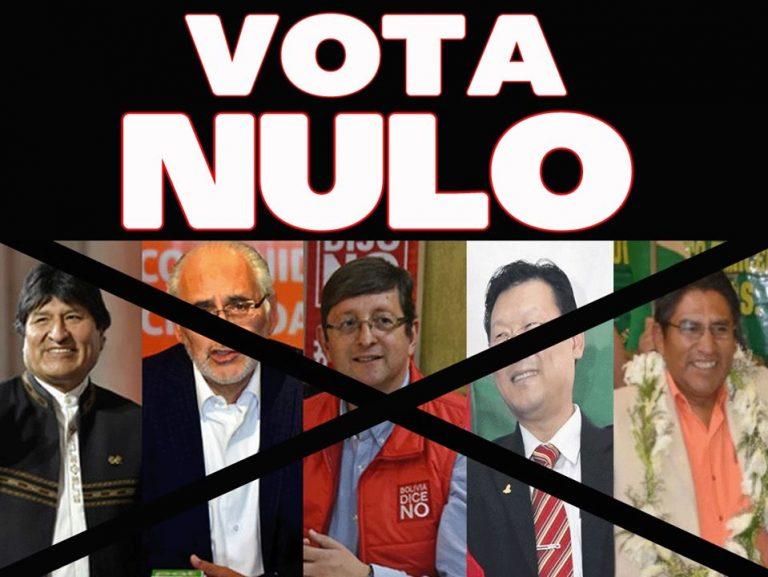 ELECCIONES NACIONALES: VOTA NULO