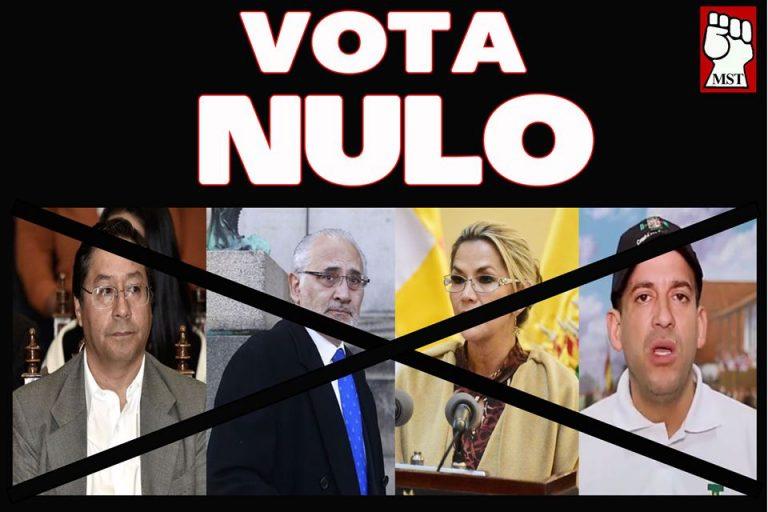 ANTE EL SISTEMA ELECTORAL FRAUDULENTO EN BOLIVIA: VOTO NULO