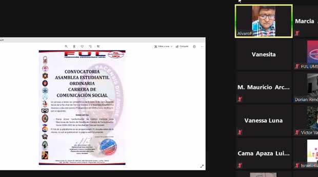 FUL de Quelali niega la palabra a estudiantes e impone un fraudulento comité electoral en Sociales y Comunicación