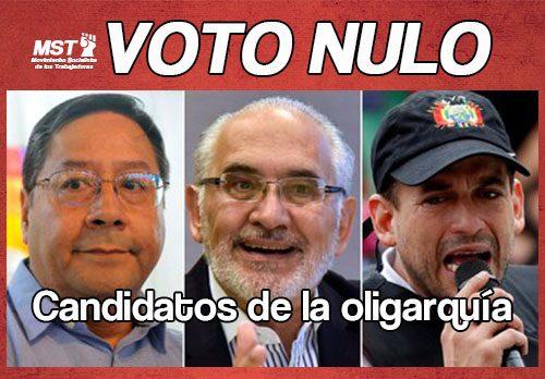 Elecciones Nacionales 2020: sistema fraudulento y candidatos de la oligarquía, Vota Nulo