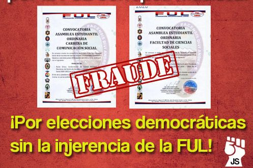Rechazamos la injerencia de la FUL de Quelali en elecciones al CEFACS y CECOM
