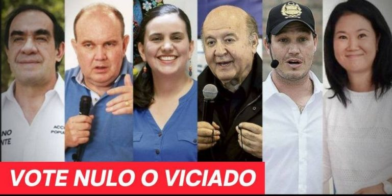 Elecciones en Perú: ni la derecha conservadora ni la seudo izquierda son alternativa – Vote Nulo o Viciado